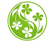 Ohrenkerze mit Yin-Yang Blüten